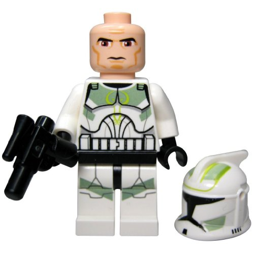 LEGO STAR WARS - Minifigur Clone Trooper Clone Wars mit Sand Green Markings aus 7913 mit Blaster