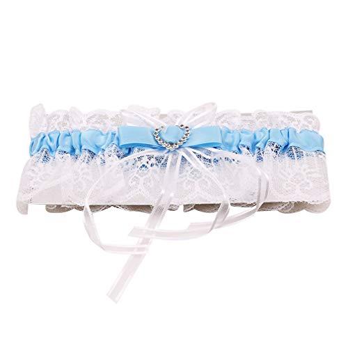 Fliyeong Premium Bridal Strumpfhochzeitsstrumpfhose Hen Night Party Bridal Dressing blau - Blau-dressing