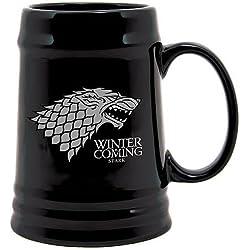 Juego de Tronos - Jarra de cerámica diseño Stark, color negro