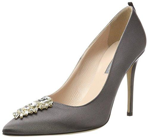 SJP by Sarah Jessica Parker Tempest, Zapatos de Tacón para Mujer, Gris (Sheldrick Satin), 41 EU