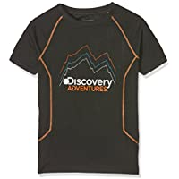 Craghoppers Discovery Adventures Short Sleeved Camiseta, Infantil, Negro, 13 Años
