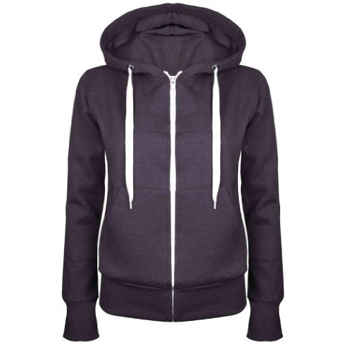 Up-Town-New-Womens-Ladies-Plain-Hoody-Girls-Zip-Lace-Top-Hoodies-Jacket-Sweatshirt-Top