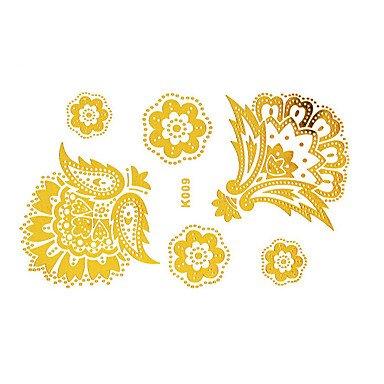OOFAYZBL® Tatuaggi adesiviDa donna / Adulto-1-Modello- (Oro Cupido Cuore)