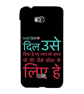 ifasho Designer Back Case Cover for Micromax Bolt Q336 (Tie-In Seeking Girls Dating Friends Dating)