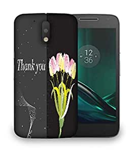 Snoogg abstract floral vector with place for the text design Designer Protective Back Case Cover For Motorola Moto G4
