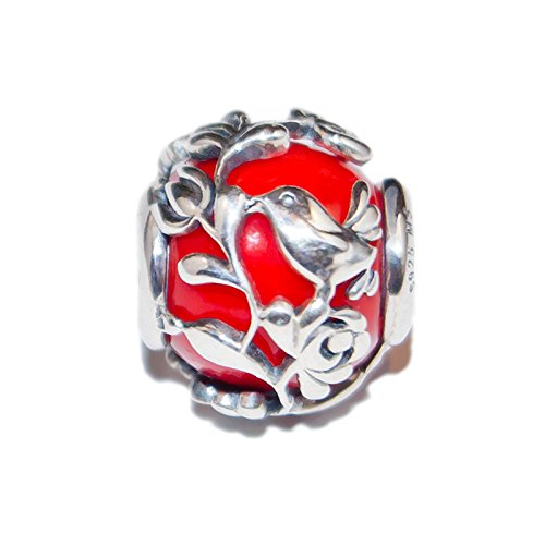 d72b66fb8 Aurora Red Murano Glass & Sterling Silver Charm S925, Lover's Song - Red  Bead pendant charm necklace, Love Lovebird Lovebirds Jewellery Pandora  compatible