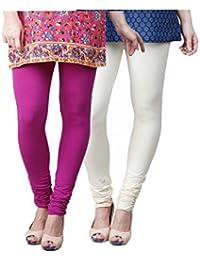 Limeberry Women's Cotton Legging Pack of 2 (LB-2PCK-LEGG-CMB-8_Multicolor)