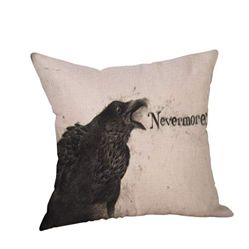 Kostüm Engel Kissenbezug - VEMOW Happy Halloween Kissen Hom Party Dekoration Fällen Crow Leinen Sofa Kissenbezug Home Decor 18