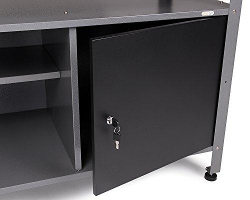 Ondis24 stabile 120 cm breite Montagewerkbank Werkstatteinrichtung Werkstatt Werkbank Werktisch mit abschließbarer Tür, stabiles Modell mit höhenverstellbaren Füßen - 5