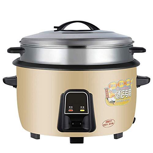 WSJTT Elektrischer Reiskocher mit automatischer Warmhaltefunktion for Suppen Edelstahlfolie, unbeschichtet, Eintöpfe, Getreide, heißes Getreide, automatische Isolierung, 8 l mit Dampfgarer [Energiekla