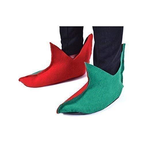 Weihnachten Fancy Dress Elf Schuhe Cover Kostüm Zubehör ()