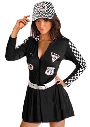 w Kostüm Kostüm Anzug in schwarz Größe 42-44 (Rennen Kostüme)