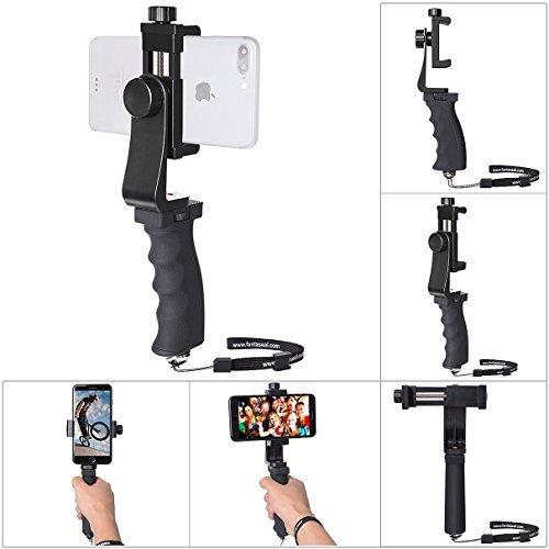 Stabilisateur Smartphone Universel, Poignée pour iPhone Rig/Grip, Stabilisateur Téléphone, Monopod pour iPhone XS/X/ 8 Plus/ 8/ 7plus/ 7, Sumsang Note 8/ S9 Huawei Mate 20 Pro/ P20,Caméras,etc.