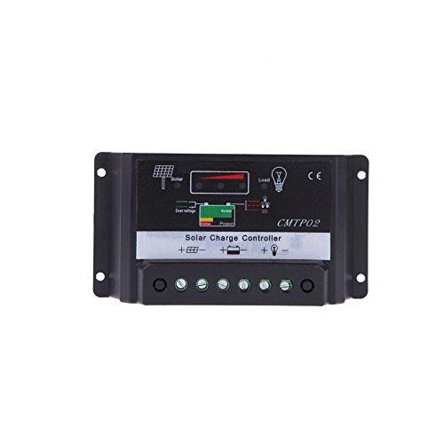 MagiDeal 30A 12V/24V Auto LED Luce Solare Regolatore di Carica Pannello Illuminazione St