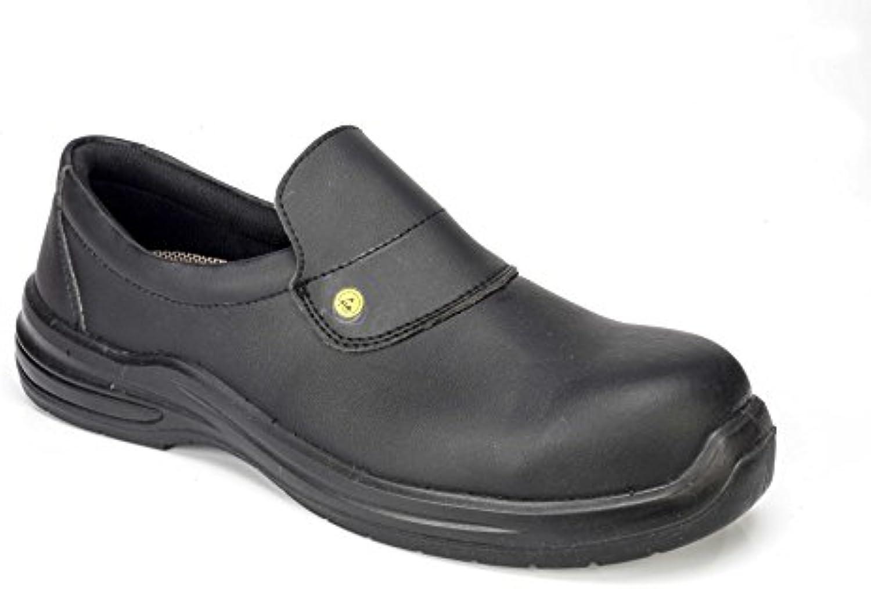 GSA 1036788011 par de zapatos bajos Puron Black S2 SRC ESD, Negro, 45