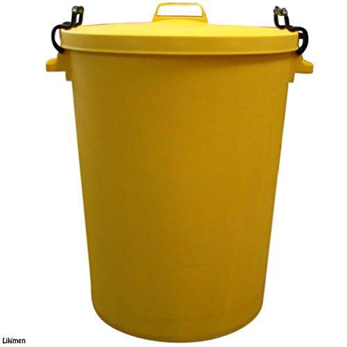110Liter Gelb Garden House Abfalltonne Mülleimer Abfalleimer Tasche