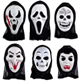 Hombres y mujeres SunMian paso ghost Máscara de halloween Máscaras de baile street dance-terroristas enmascarados blanco bolas chirrido ,V Vendetta de campo