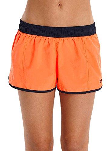 Speedo 10Wsht af Shorts für Strand Herren, Damen, 10 Wsht Af, Arancio Fluo/Navy, XS