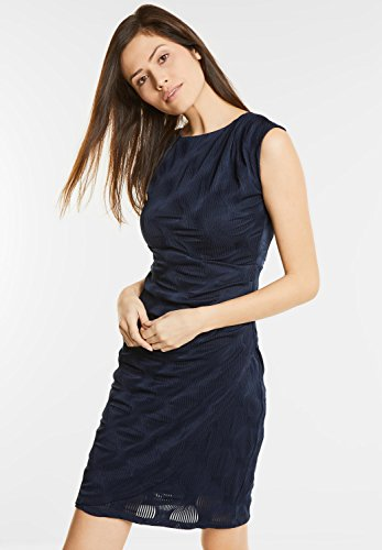 Street One Damen Elegantes Kleid Onora Blau (Night Blue)