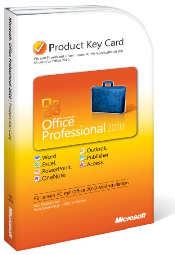 Microsoft Office Professional 2010 (Product Key Card)