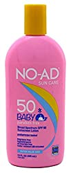 No-Ad Spf50 Sunscreen Baby Lotion 13 Ounce (384ml)