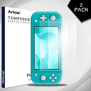 Aribest Nintendo Switch Lite Panzerglas Schutzfolie,[2 Stück] Panzerglasfolie für Nintendo Switch Lite,9H Hartglas, Blasenfrei,Transparente Displayschutzfolie für Nintendo Switch Lite 2019