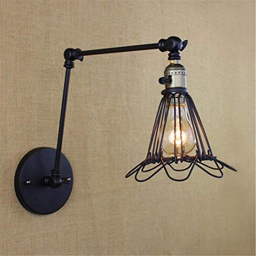 Industrial Antique Wall Lamp Lighting Wall Lights Adjustable Strap Switch Iron Wall Lamps Living Room Bedroom Corridor Staircase Wall Lamp [Energy Class A+++]