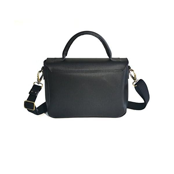 Women handbag with shoulder strap; vegan leather and inner tube; eco-friendly cruelty free vegan - handmade-bags