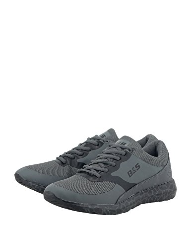 Bitter & Sweet Men's Men's Black Low Cut Sneakers Grey