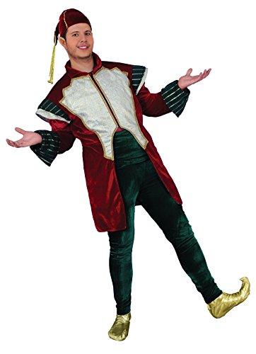 Chiber - Manner Elfen Kostüm, Jacke Bordeaux, Luxe
