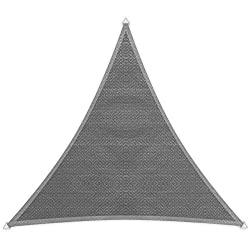 Windhager Sonnensegel, Sonnenschutz, Sunsail ADRIA Dreieck 3, 6 x 3,6 m (gleichschenkelig), UV-Schutz, witterungsbeständig und atmungsaktiv, GRANITGRAU, 10967, GRAU