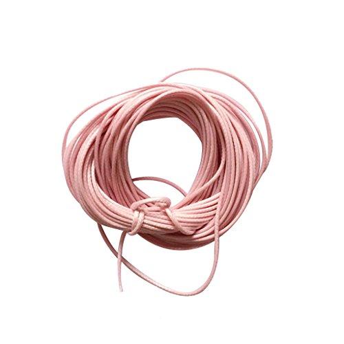 10m Armband Nylonschnur Nylonfaden Baumwollschnur Schnur Nylon Beading Thread für DIY Schmuckherstellung - Rosa (Nylon-schnüre)