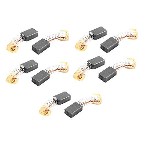sourcingmap® 10 Pz Carbonio Motore Elettrico Spazzole 15mmx10mmx6mm Per Bosch Trapano