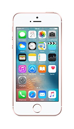 Apple Iphone SE Smartphone Débloqué 4G (Ecran: 4 pouces - 64Go - Carte Nano-SIM - iOS) Rose Gold (Import Europe)