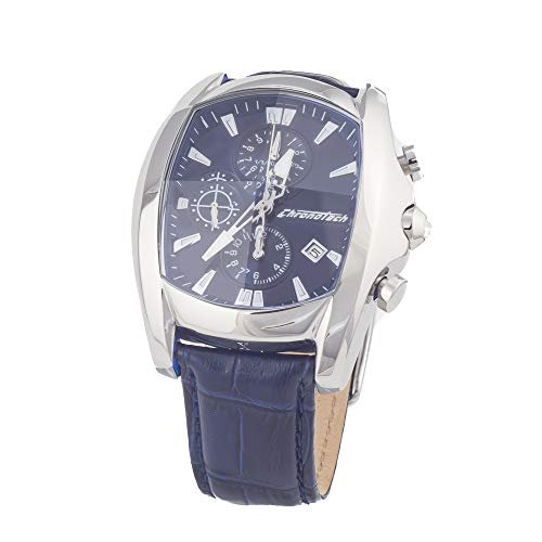Chronotech orologio analogico quarzo uomo con cinturino in pelle ct7106m-03