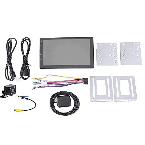 Voiture Double DIN en Dash stéréo, Prise en Charge du système multimédia avec Lecteur DVD Navigation GPS USB SD FM AM RDS Bluetooth Wheel Control Caméra de recul (17,8 cm)