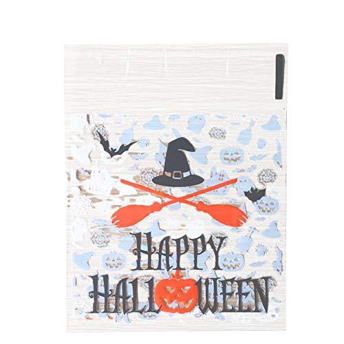 LAAT Halloween Cookie Süßigkeiten Geschenkbeutel Beutel Verpackung Plastiktütchen Candy Bags DIY Selbstklebende Geschenke Beutel für Hochzeitstag Weihnachtsfeier 100 stücke