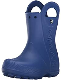 crocs Jungen Handle It Rain Boot K Gummistiefel, gelb, US Girls