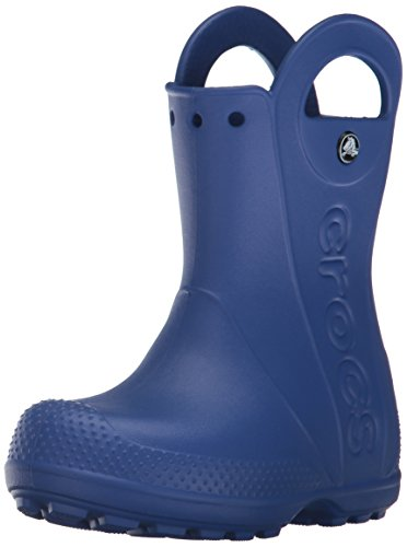 Crocs handle it rain boot k, stivaletti unisex – bambini, blu (cerulean blue), 22/23 eu