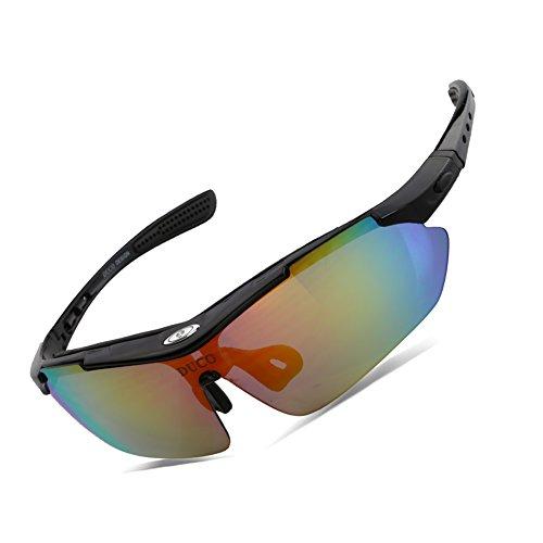 Duco occhiali da sole polarizzati occhiali, 5 lenti intercambiabili, uv400, sp0868