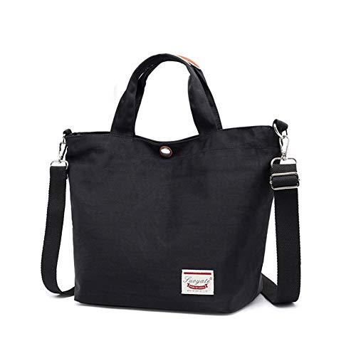 Nlyefa Damen Kleine Handtasche Shopper Einkaufstasche Nylon Umhängetasche Schultertasche für Shopper Alltag, EINWEG (Kleiner Shopper)
