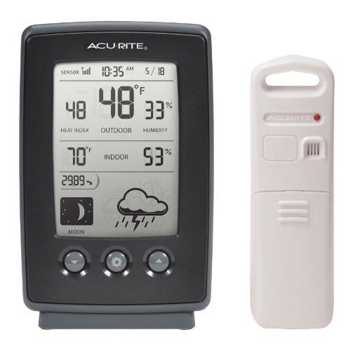 AcuRite 00829Digital Wetterstation mit Vorhersage/Temperatur/Uhr/Moon Phase - Acu-rite Wireless Thermometer