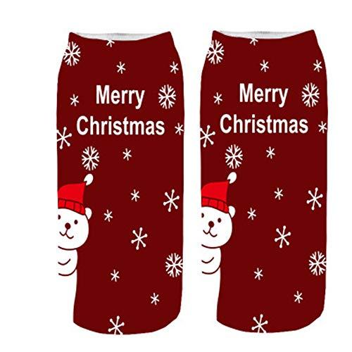 Longra unisex calzini sportivi in cotone natale stampa cartoon calzini invernali caldi uomo e donna calzini coloriti antiscivolo regali di natale e capodanno