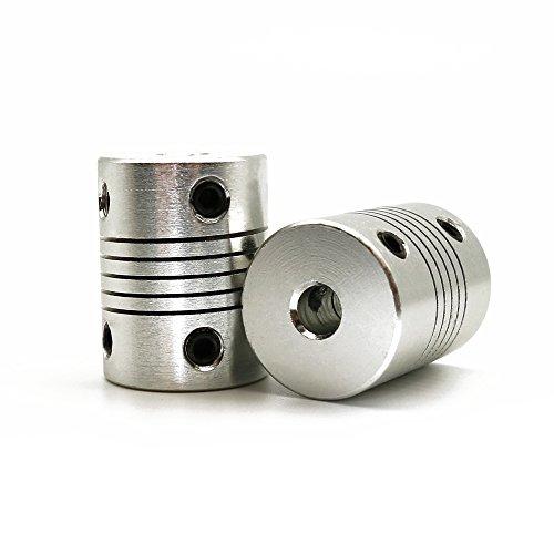 Lot de 2 raccords souples – 5mm vers 5mm – Tige NEMA 17 – Pour imprimante 3D RepRap Prusa i3 ou machine CNC