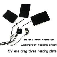 Preisvergleich für Heizkissen mit 1 Drag 3/5 Heizkissen elektrisch USB Winter Warm Temperaturregler 45–50 °C Wasserdicht waschbar...