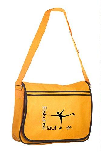 Retro Messenger Bag BG71 gold/schwarz Eiskunstlauf