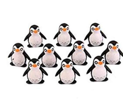 DDGE DMMS - 10 Piezas de pingüino pequeño Bonsai joyería decoración de Paisaje Micro, 2 x 1 cm