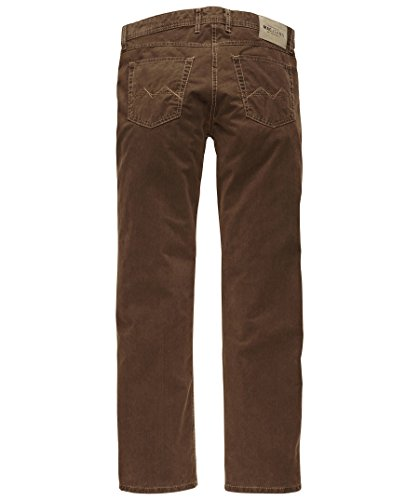MAC Herren Jeans Hose Arne Leather Touch Gabardine 0781L050100 253 253 hazelnut brown