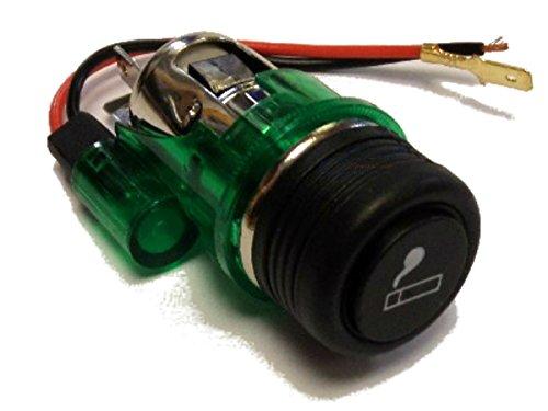 Preisvergleich Produktbild xtremeauto® beleuchteter Auto-Zigarettenanzünder, 12V-Anschluss und Ersatz-Feuerzeug