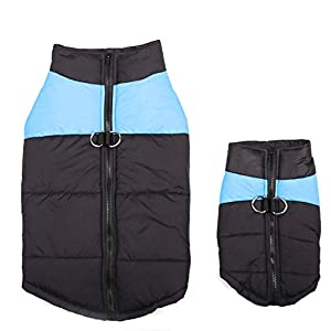 Chien Vestes imperméables Animaux Manteau Chaud Coton d'hiver Gilet Manteau Skiwear